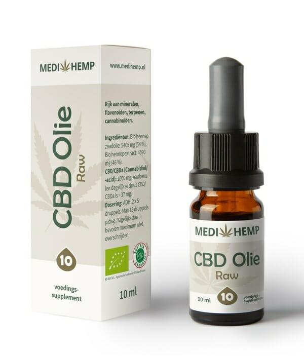 CBD olie 10 procent 10 ml Medihemp